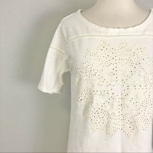 Intimately Free People XS Tunic Top Ivory Lace
